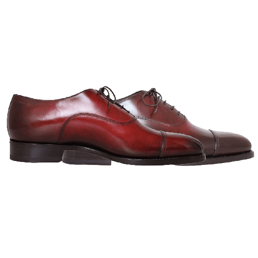 Burgundy Leather Lace Up Oxford Shoes