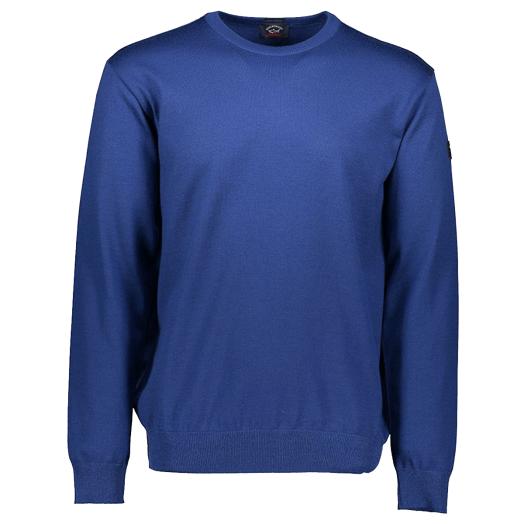 Cobalt Blue Merino Wool Roundneck Sweater