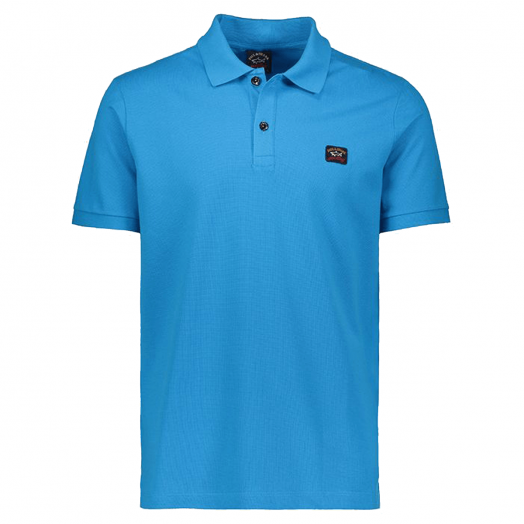 Light Blue Organic Cotton Logo Polo Shirt