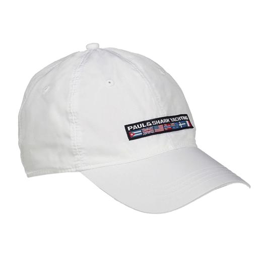 White Polyester Baseball Cap