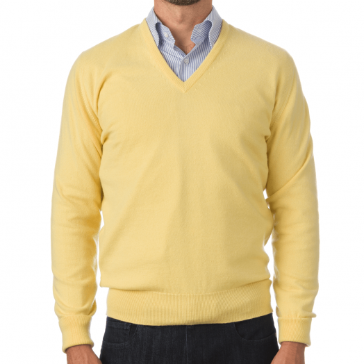 The Chatsworth 2ply V-Neck Cashmere Sweater