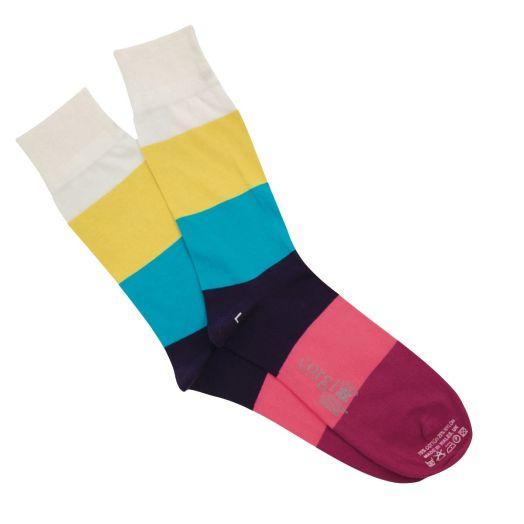 Colour Block Lightweight Cotton Socks