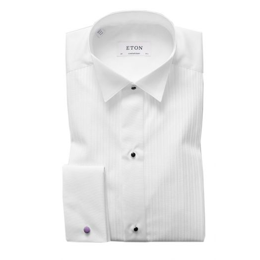 Contemporary Fit Plissé Wing Collar Dress Shirt