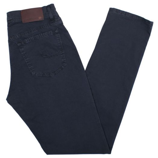Navy ID Cotton Jeans