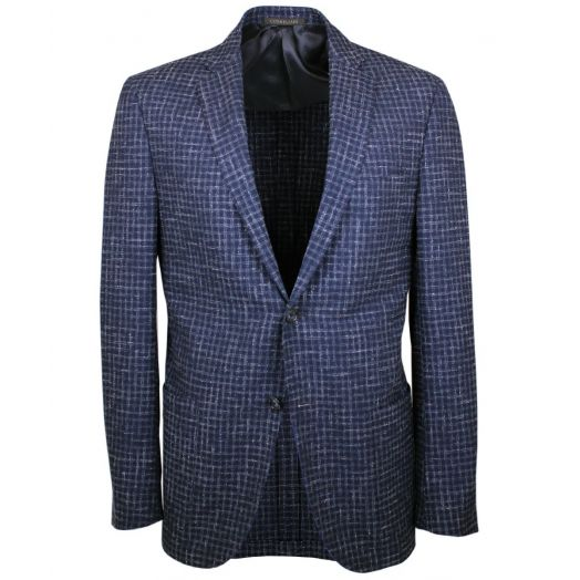 Navy Check Unlined Lightweight Jacket