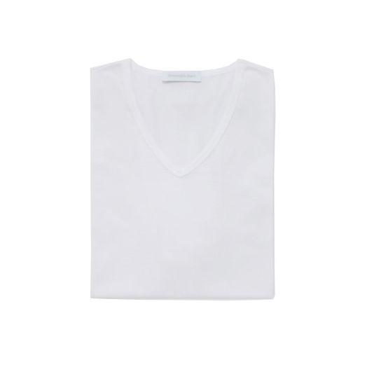 White Filoscozia Cotton V-Neck T-Shirt