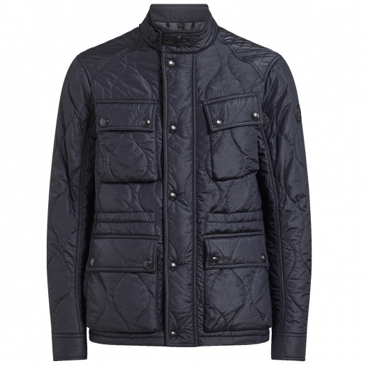 Navy Course Quilted Jacket