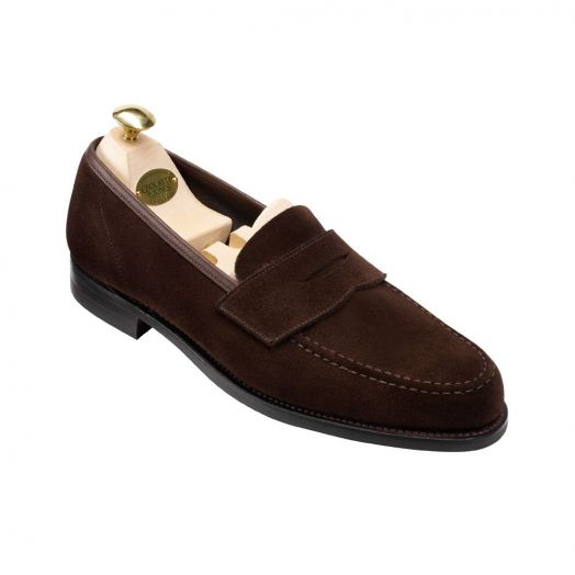 Harvard II Dark Brown Suede Penny Loafer