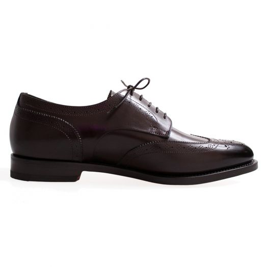 Dark Brown Brogue Derby Shoe