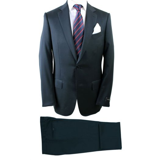Dark Navy Two Piece Wool Suit