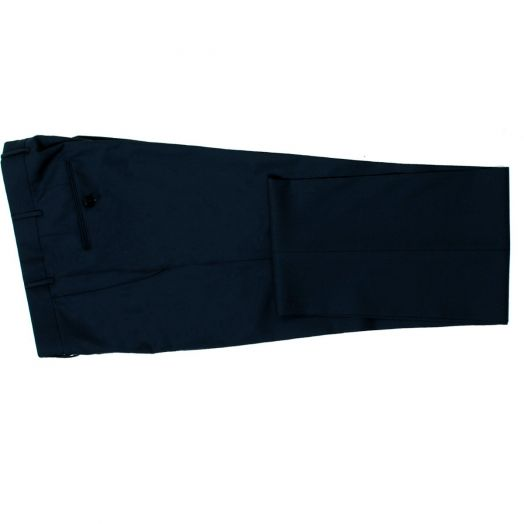 Dark Navy Wool Regular Fit Trousers