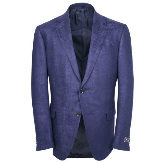 Navy Merino Wool & Cashmere Trofeo Blazer
