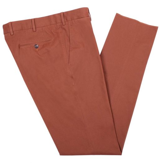 Rust Regular Fit Stretch Cotton Chino Trousers