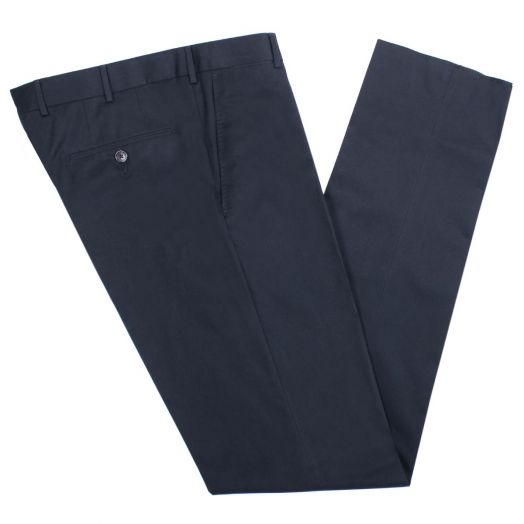 Navy Tailored Slim Fit Trousers