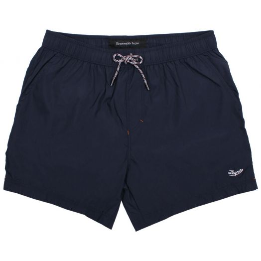 Navy Mid Length Swim Shorts