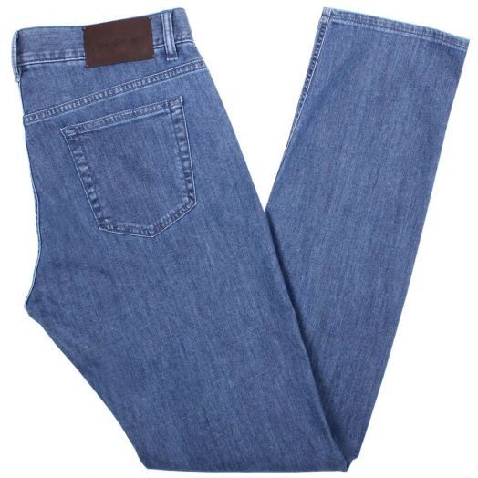 Blue Rinse Stretch Cotton Jeans