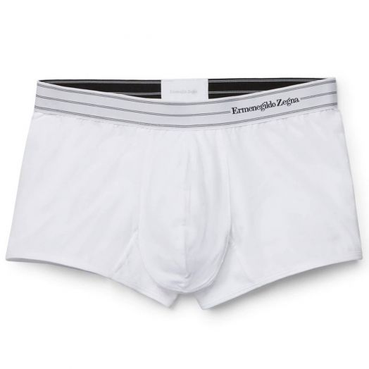 White Stretch Cotton Trunk