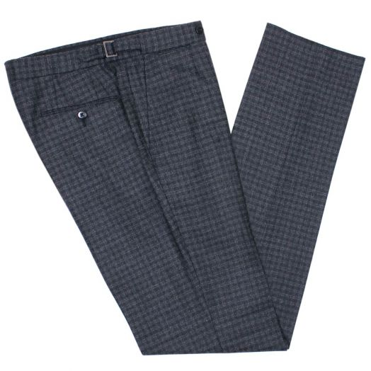 Charcoal Check Lightweight Wool Trousers