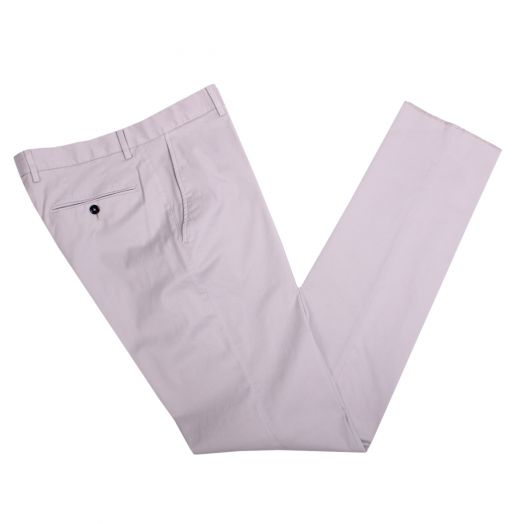Beige Premium Cotton Stretch Chinos