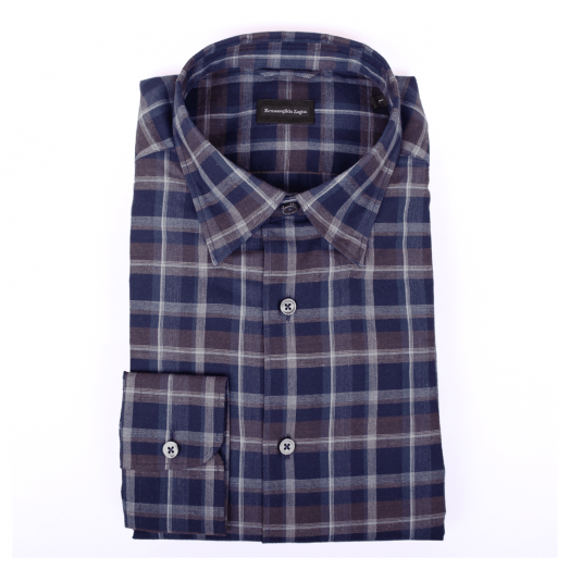 Blue & Brown Check Shirt