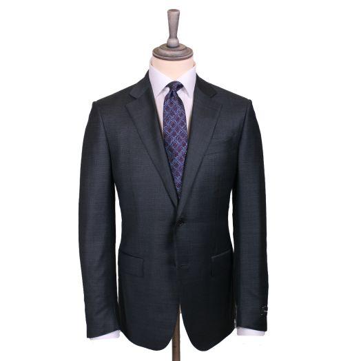 Charcoal Grid Weave Trofeo Wool Suit