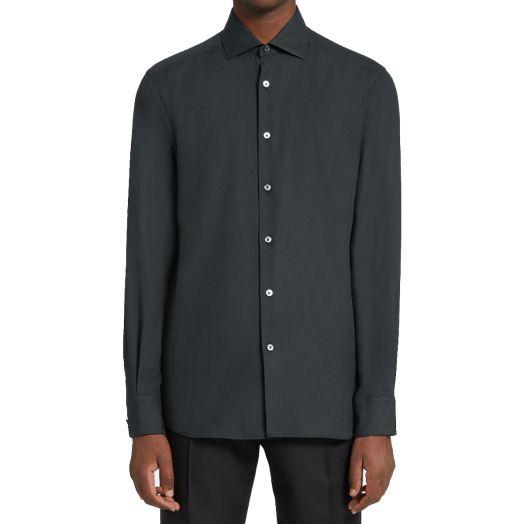Dark Green Cotton & Cashmere Shirt