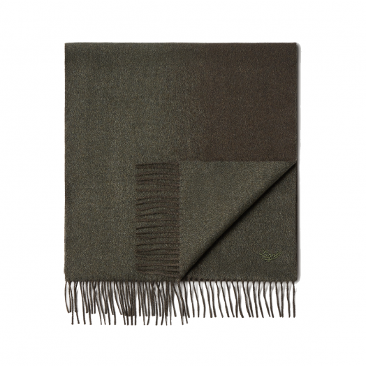 Dark Green Degradè 100% Pure Silk Scarf