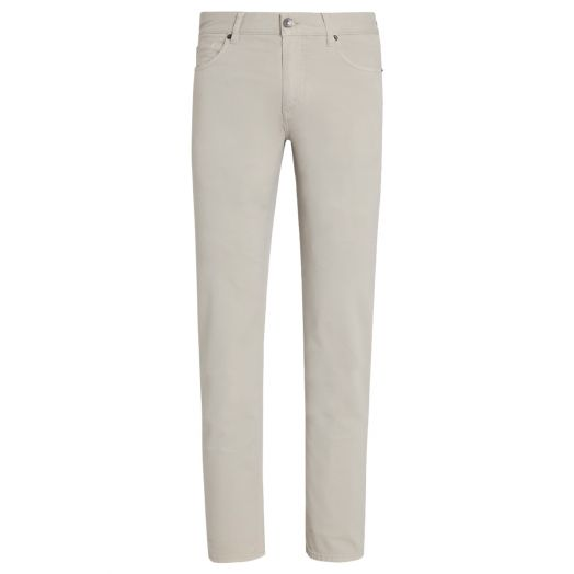 Dust White Stretch Cotton Lyocell Jeans