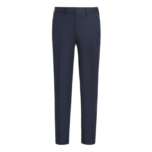 Matt Navy Cotton Trousers