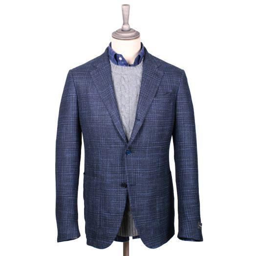 Navy-Blue Wool, Silk & Cashmere Jacket