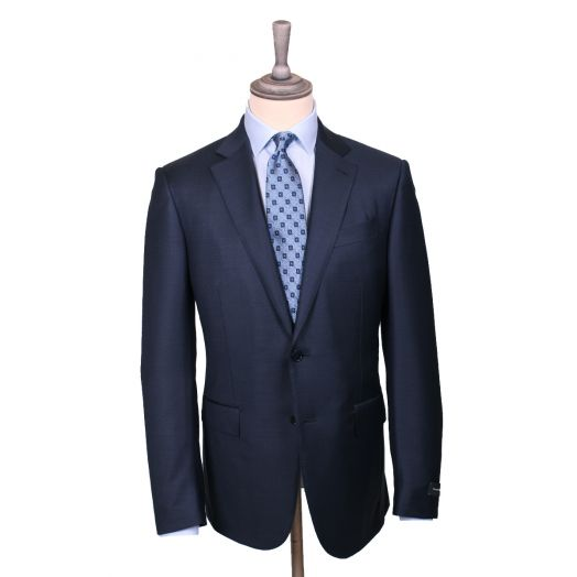 Navy Grid Weave Trofeo Wool Suit