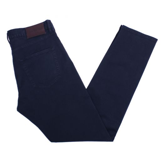 Navy Stretch Cotton Lyocell Jeans