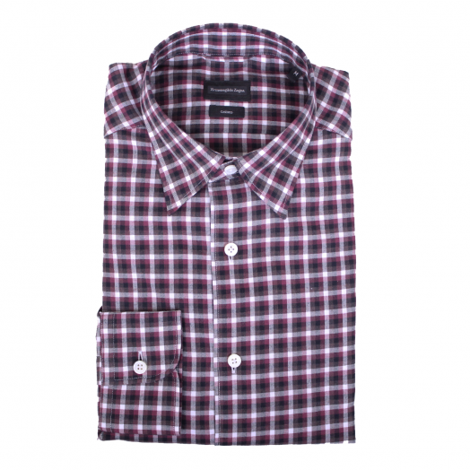 Red & Brown Check Cashco Shirt