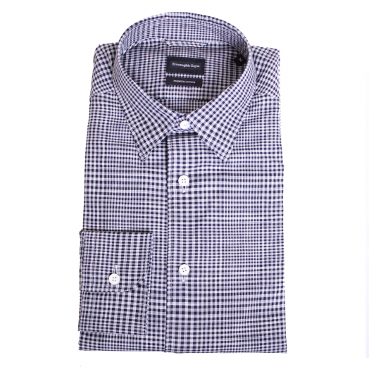 White & Black Check Premium Cotton Shirt