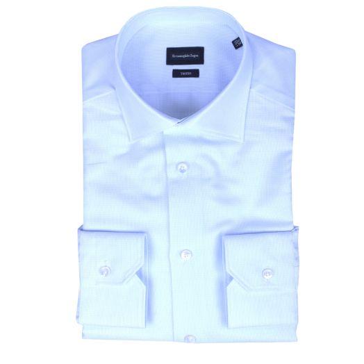 White & Blue Woven Dash Shirt