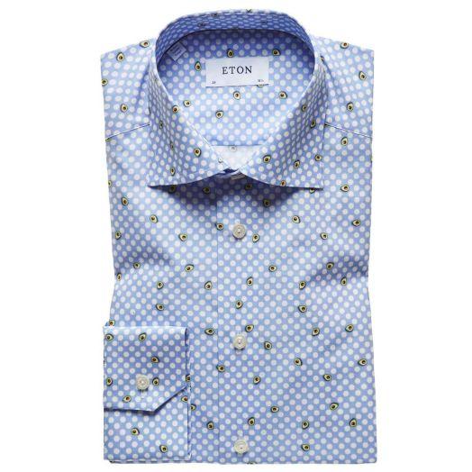 Blue Polka Dot Avocado Contemporary Fit Shirt