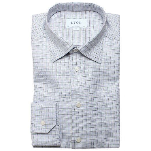 Multi Weave Textured Twill Contemporary Fit Shirt