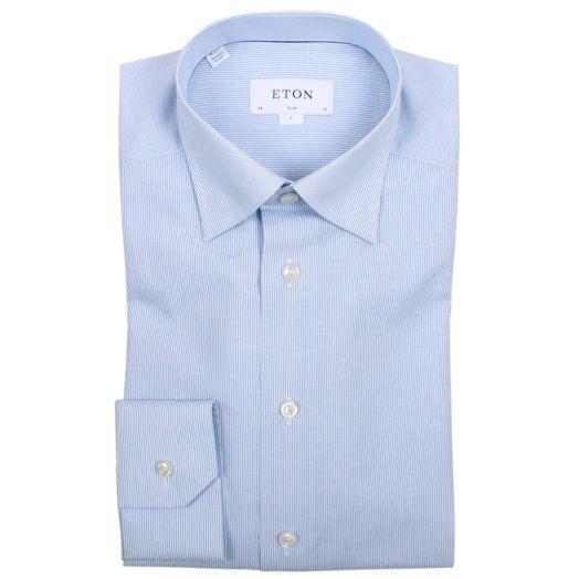 Light Blue Micro Stripe Slim Fit Shirt