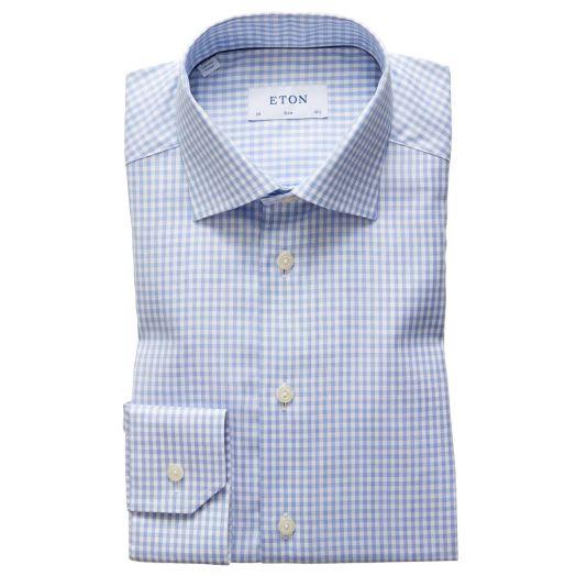 Blue Check Signature Twill Slim Fit Shirt