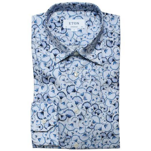 Blue Dandy Lion Print Signature Twill Shirt