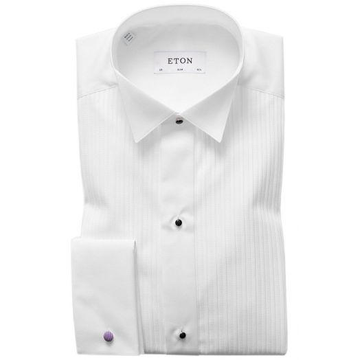 Slim Fit White Traditional Wing Collar Dress Shirt