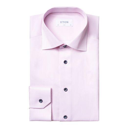 Pastel Pink Signature Twill Slim Fit Shirt