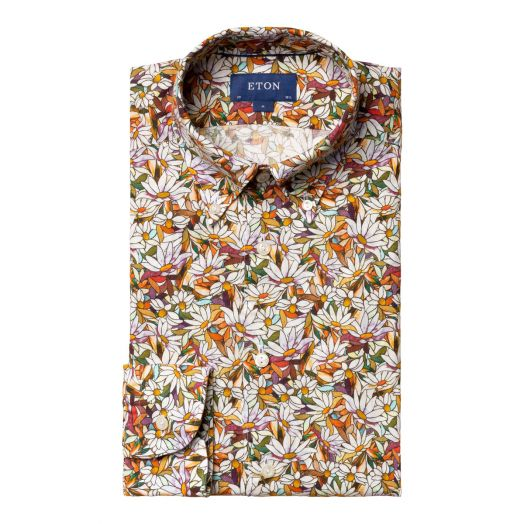 Floral Daisy Contemporary Fit Shirt