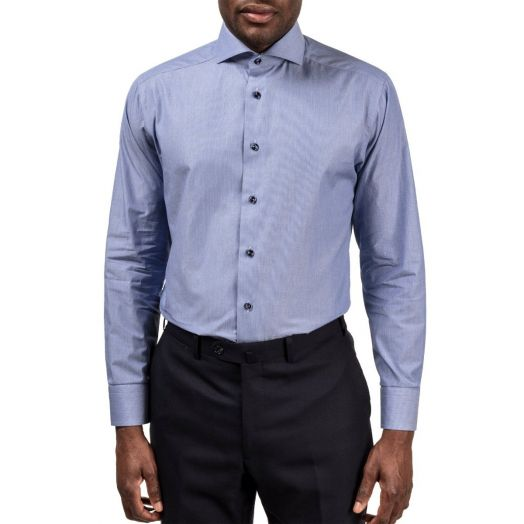 Blue Hairline Striped Slim Fit Shirt