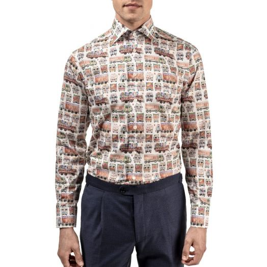 Trucks Print Contemporary Fit Shirt