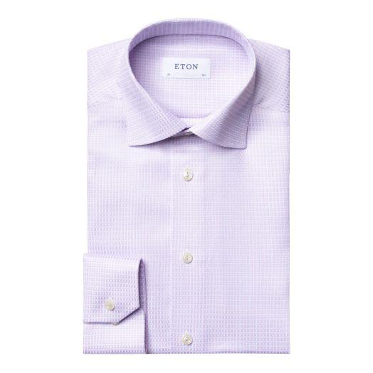 Light Purple Micro Weave Slim Fit Shirt