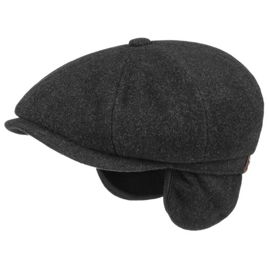 Charcoal Hatteras Virgin Wool Cashmere Flat cap