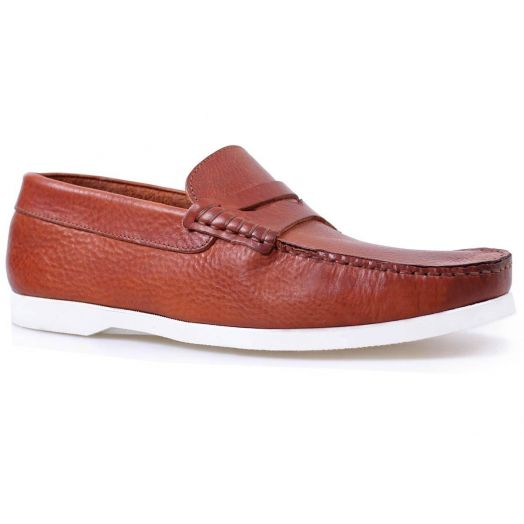 Brown Leather Handmade Loafer