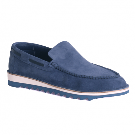 Navy Suede E600 Slip-On Sandal