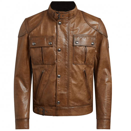 Burnished Gold Gangster 2.0 Leather Jacket